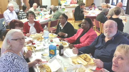 retirement residents fish n chip event