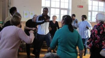 retirement housing - get up n go event - dancing