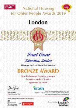 paul court bronze award 2019