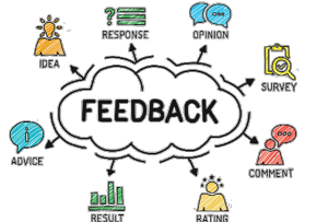 feedback with different feedback icons around