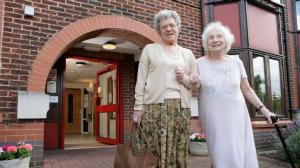Two Old Ladies Outside Hydon Court